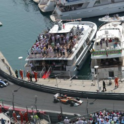 02 view on track from the back of the boat grand prix de monaco
