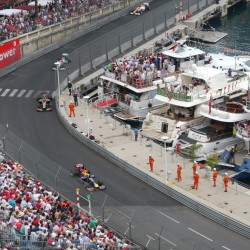 05 view on track from the back of the boat grand prix de monaco
