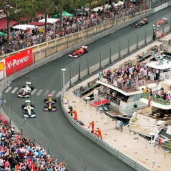06 view on track from the back of the boat grand prix de monaco