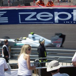 09 view on track from the back of the boat grand prix de monaco