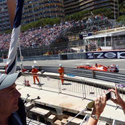 22 view on track from the back of the boat grand prix de monaco