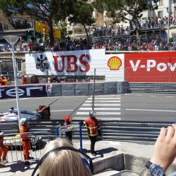23 view on track from the back of the boat grand prix de monaco