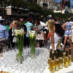 11 champagne at the end of the monaco grand prix