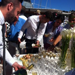 12 champagne at the end of the monaco grand prix