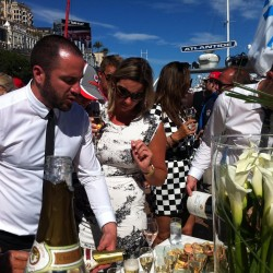 20 champagne at the end of the monaco grand prix