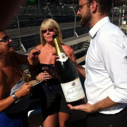 23 champagne at the end of the monaco grand prix