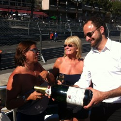 24 champagne at the end of the monaco grand prix