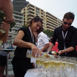 27 champagne at the end of the monaco grand prix