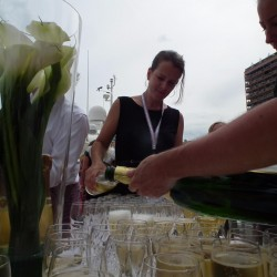 28 champagne at the end of the monaco grand prix