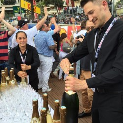 29 champagne at the end of the monaco grand prix