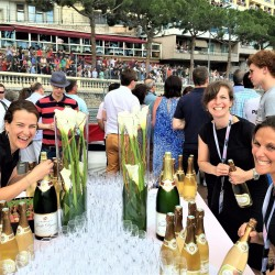 32 champagne at the end of the monaco grand prix