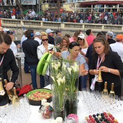 35 champagne at the end of the monaco grand prix