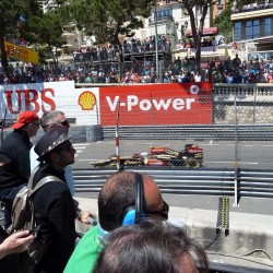 19 view on track from the back of the boat grand prix de monaco