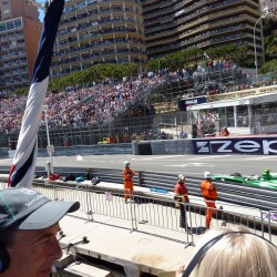 21 view on track from the back of the boat grand prix de monaco