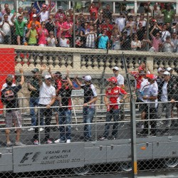 05 f1 pilots parade and prince opening the track monaco grand prix