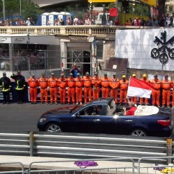 09 f1 pilots parade and prince opening the track monaco grand prix