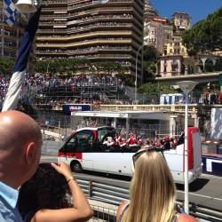 10 f1 pilots parade and prince opening the track monaco grand prix