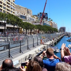 12 f1 pilots parade and prince opening the track monaco grand prix