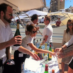 06 bar on boat s upper deck monaco grand prix