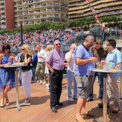 10 bar on boat s upper deck monaco grand prix