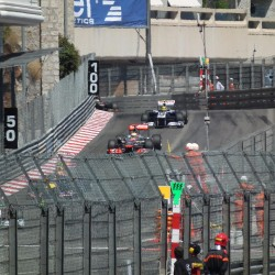 25 view of exit of tunnel and curve grand prix de monaco